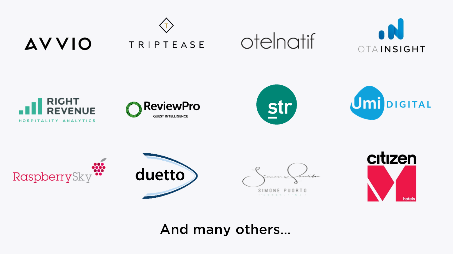 Snapshot Partnering Logos Avvio Triptease Otelnatif Otainsight Right Revenue STR